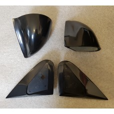 Black Manual DTM Style Mirrors & Base Plates To Fit Ford Fiesta MK4 MK5 95 - 03