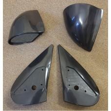 Black Manual DTM Style Mirrors & Base Plates fits Peugeot 206 3 / 5 Door Models