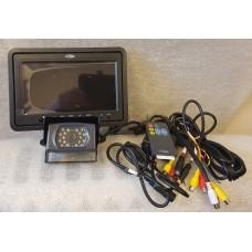 "Veba Night Vision Commercial Heavy Duty Camera 12 & 24 Volt + Veba 7"" Screen"