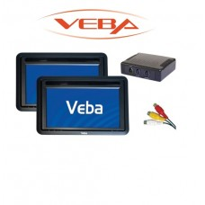 "Veba AV62MK Twin 6.2"" LCD Car Monitors Headrest Monitor Screen Kit"