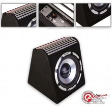 "Vibe Pulse 12"" Amplified Subwoofer Enclosure - Active Amp Sub Car Box 900w Max"