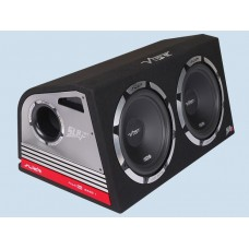 "Vibe Slick Twin 12"" Active Subwoofers Subs and Box 2400w"