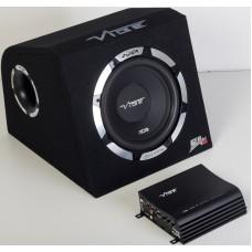 """Vibe SLICKPACK10-V1 10"""" Subwoofer Enclosure and Slick Mono Amplifier Inc Wiring"""