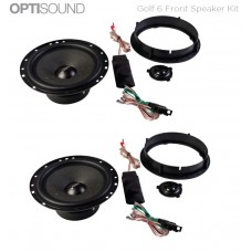 Vibe Optisound Golf 6 2008 - 2012 Custom Front Speaker Upgrade Kit