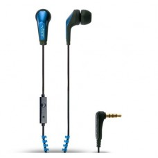 Vibe Slick Zip In-Ear Headphones Extreme Bass MP3 Player iPhone iPod - Blue