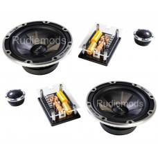 "Vibe BlackDeath 6.5"" 2-Way Component Car Audio Speakers 840w Peak"