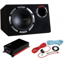 "Vibe 12"" Pulse Bass Kit Subwoofer package Vibe Mono Amplifier and wiring kit"