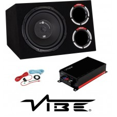 "Vibe 12"" Slick Bass Kit Subwoofer package Vibe Mono Amplifier and wiring kit"