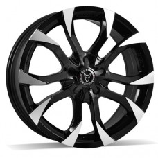 "Wolfrace Assassin Black/Polished 18""x8.0 - Volkswagen T5 Fitment - Wheel & Tyre"