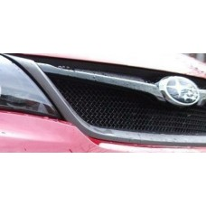 Zunsport Fits Subaru Impreza STi 2011 On Front BLACK Stainess Upper Grille