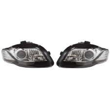 Audi A4 B7 05-08 black R8 Devil eye headlights