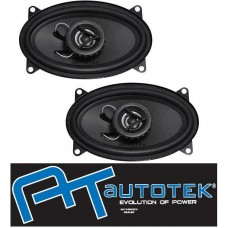 "AUTOTEK ATX46CX 6""x4"" Car 2 Way Coaxial Speakers 250w 1 Pair"