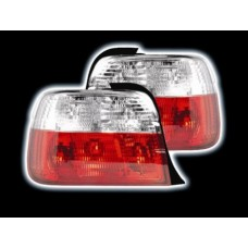 BMW 3 series E36 compact red and clear jewel style tailights