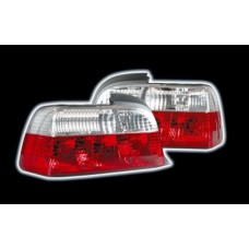BMW 3 series E36 4 door red and clear jewel crystal tailights