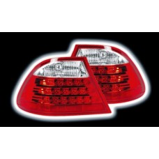 BMW 3 series E46 2 door red LED lexus style tailights
