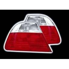 BMW 3 series E46 4 door red and clear style tailights