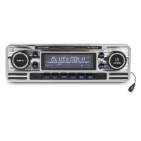 Caliber RCD120BT Retro Style Chrome Car CD Player Bluetooth AM/FM USB SD Aux In