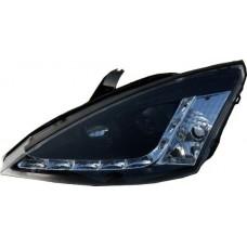 Ford Focus MK1 98-04 black R8 Devil eye headlights