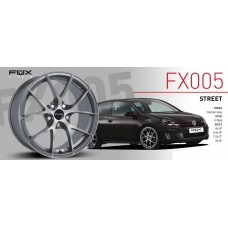"Fox FX5 6.5x15"" carbon grey Alloy Wheels - Set of 4"