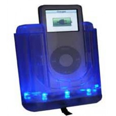 iPod Car Kit IPV003 - Clear iPod Cradle with Blue LEDs
