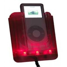 iPod Car Kit IPV004 - Clear iPod Cradle with Red LEDs