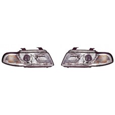 Audi A4 B5 95-02 chrome R8 Devil eye headlights