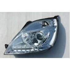 Ford Fiesta MK6 6.5 R8 Devil eye chrome headlights