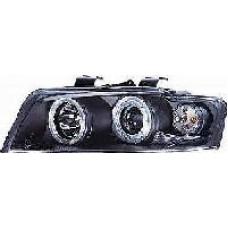 Audi A4 B6 01-04 black angel eye headlights