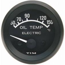 Tim Oil Temperature Gauge 12v Electric - Black FREE DELIVERY