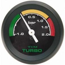 Tim Turbo Boost Gauge 2 Bar - Black FREE DELIVERY