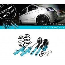 VanSlam Coilover Lowering Suspension Kit 40-70mm to fit VW Transporter T5 T6 T32 ONLY